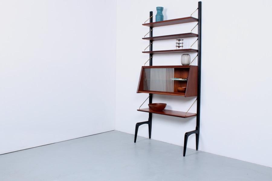 Webe Louis Van Teeffelen Modular Shelving Unit With Glass Door