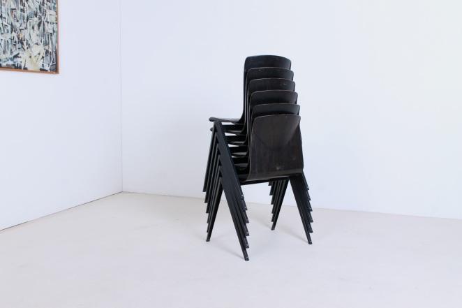 Hollandsk-halvtredserne-stole-industrielt-design-møbler-sedie-disegno-stolar-galvanitas-femtiotalet-compass-base-utformning-vintage-chairs-retro