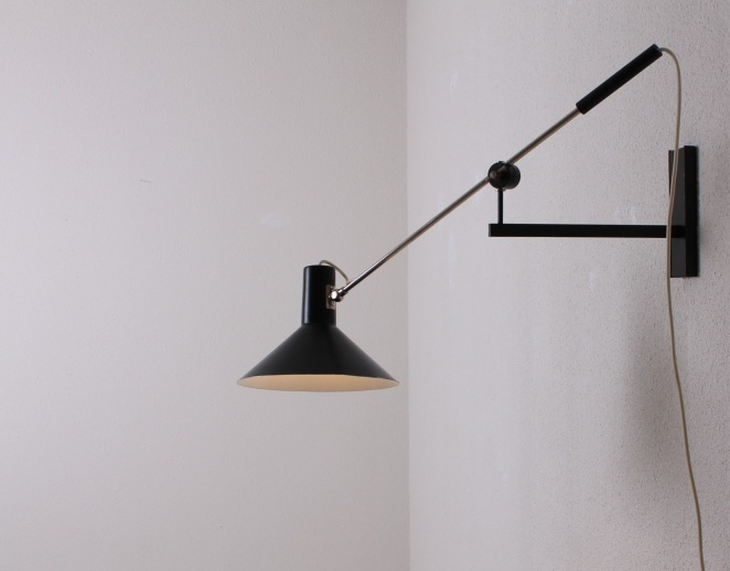 Wall Lamp New Design : Anvia adjustable wall counter balance lamp 7105 Netherlands 1955 Cencity.nl