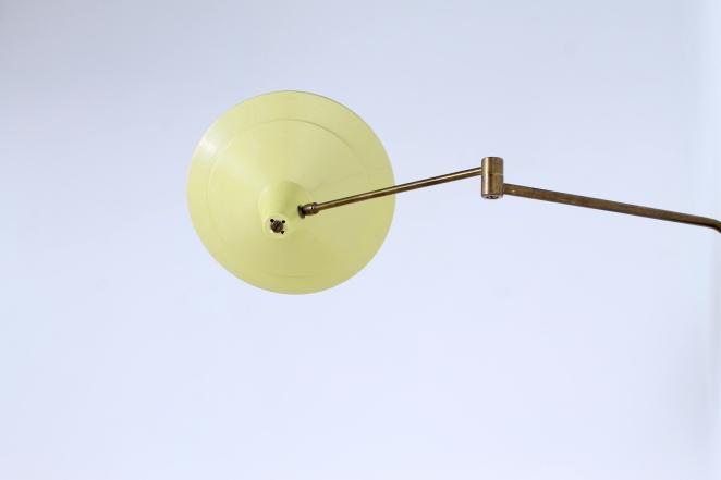 anvia-yellow-adjustable-wall-light-panama-shade-swinging-arm-fifties-dutch-design-modernist-metal-minimal-1