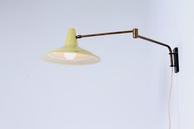 anvia-yellow-adjustable-wall-light-panama-shade-swinging-arm-fifties-dutch-design-modernist-metal-minimal-7