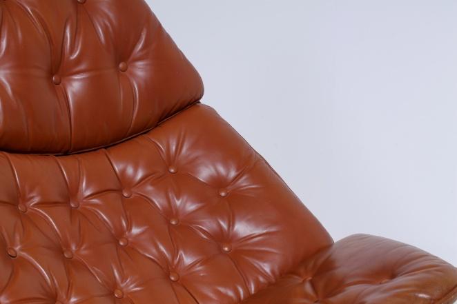 artifort-geoffrey-harcourt-leather-cognac-camel-swival-design-F-series-dutch-design-lounge-chair-4