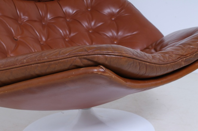 artifort-geoffrey-harcourt-leather-cognac-camel-swival-design-F-series-dutch-design-lounge-chair-5