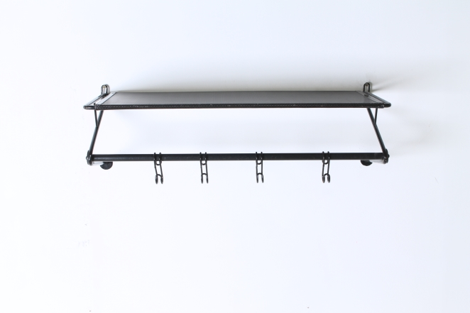 artimeta-soest-black-coat-rack-wall-console-fiedeldij-mategot-metal-perforated-fifties-dutch-french-design-1