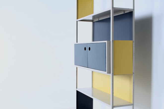 asmeta-cabinet-case-bijenkorf-1953-yellow-bookcase-colored-unit-modular-system-dutch-fifties-graphic-industrial-design-modernist-metal-kramer-1