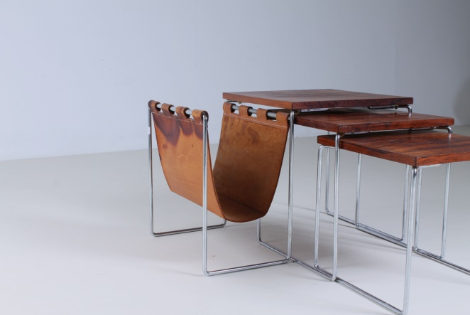 brabantia-nesting-tables-set-tables-leather-magazineholder-sixties-dutch-design-vintage-rosewood-wood-chrome-cencity-1