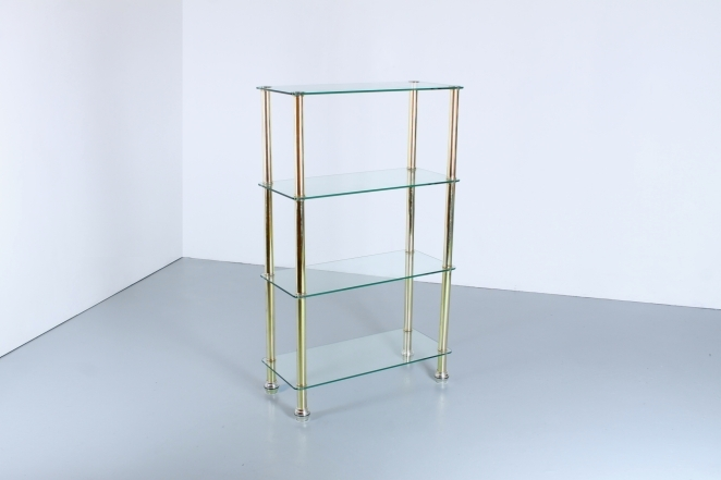 Wondrous Brass Glass Shelving Unit Display Storage Hollywood Regency Home Interior And Landscaping Ferensignezvosmurscom