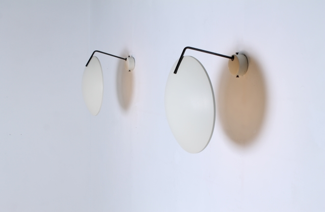 bruno-gatta-stilnovo-ceiling-wall-sconces-saucer-lights-white-brass-1954-fifties-italian-modernist-design-lamp-3