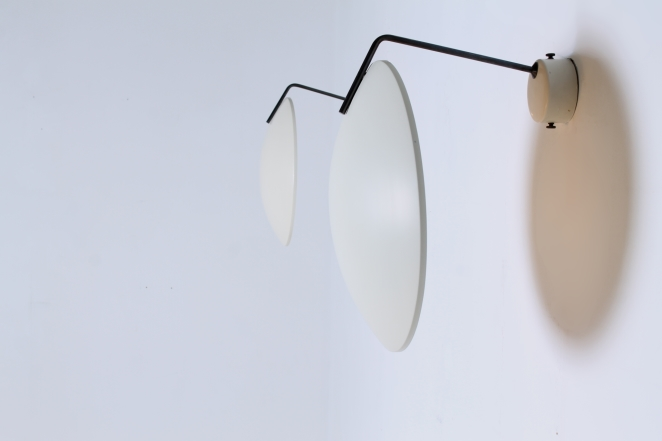 bruno-gatta-stilnovo-ceiling-wall-sconces-saucer-lights-white-brass-1954-fifties-italian-modernist-design-lamp-5