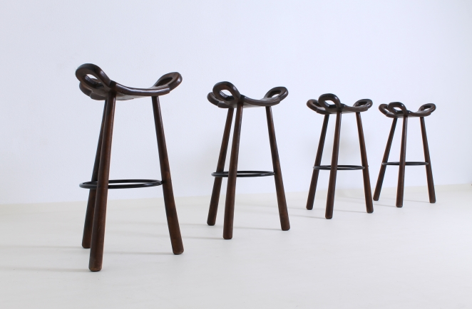 1960ies Spanish high stools Tapiovaara style