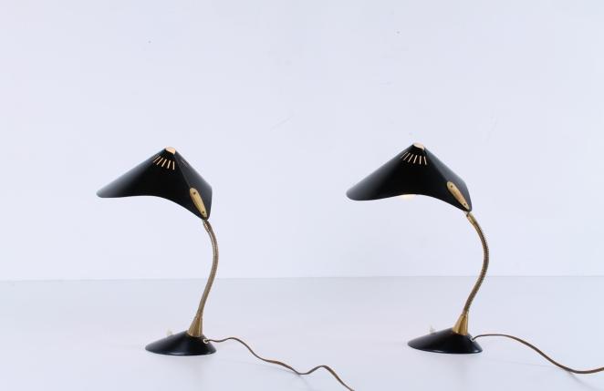 cosack-leuchten-germany-brass-leaf-shape-ray-fish-black-kalff-vintage-midcentury-desk-table-light-1