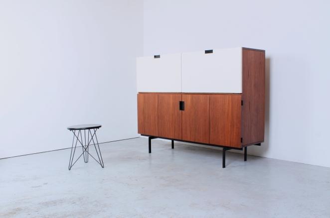 pastoe japanese series cabinet writing desk teak white parts cees