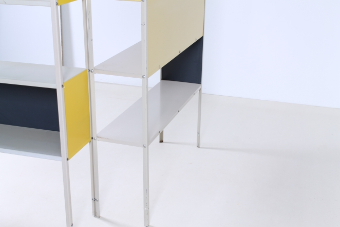 friso-kramer-asmeta-bijenkorf-1953-yellow-bookcase-colored-unit-modular-system-dutch-graphic-industrial-design-modernist-metal-11
