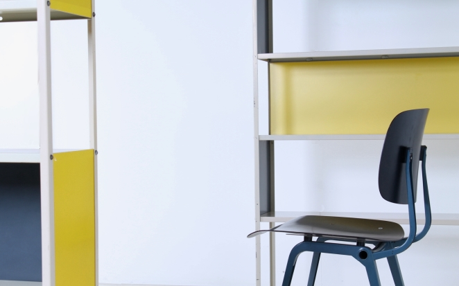 friso-kramer-asmeta-bijenkorf-1953-yellow-bookcase-colored-unit-modular-system-dutch-graphic-industrial-design-modernist-metal-14