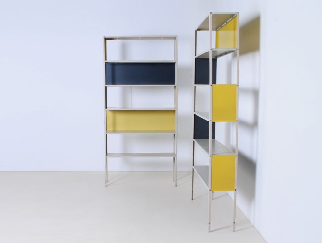friso-kramer-asmeta-bijenkorf-1953-yellow-bookcase-colored-unit-modular-system-dutch-graphic-industrial-design-modernist-metal-2