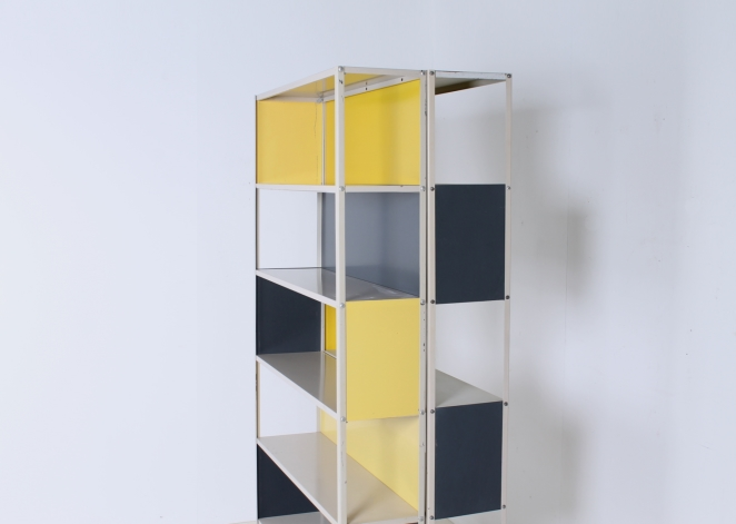 friso-kramer-asmeta-bijenkorf-1953-yellow-bookcase-colored-unit-modular-system-dutch-graphic-industrial-design-modernist-metal-9