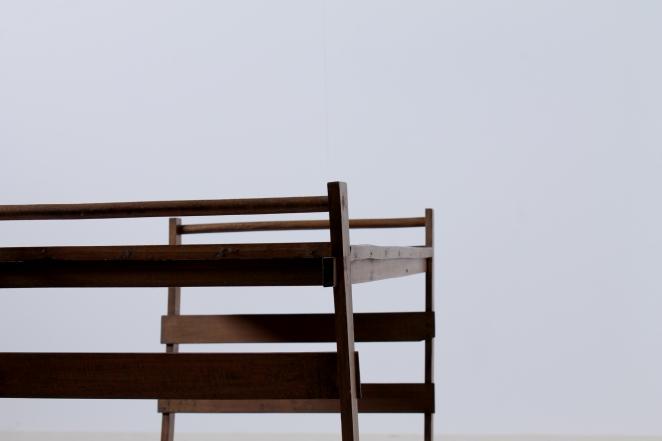 Gerrit Rietveld wooden tea trolley, post war design.