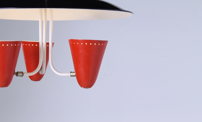 hala-red-black-saucer-pendant-fifties-perforated-shades-stars-die-cut-stilnovo-arteluce-era-5