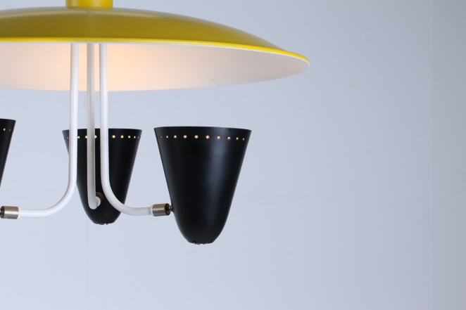 hala-zeist-dutch-design-saucer-ufo-atomic-italian-style-arteluce-stilnovo-mategot-metal-modern-fifties-yellow-black-pendant-2