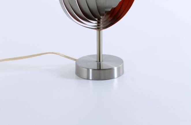 henri-mathieu-lumieres-lyfa-table-desk-light-spiral-metal-space-age-orange-stainless-steel-eclisse-shell-lamellae-sixties-design-vintage-3