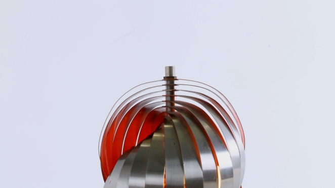 henri-mathieu-lumieres-lyfa-table-desk-light-spiral-metal-space-age-orange-stainless-steel-eclisse-shell-lamellae-sixties-design-vintage-4