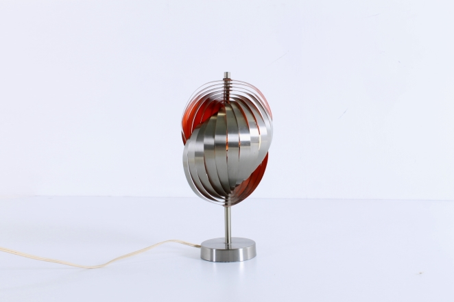 henri-mathieu-lumieres-lyfa-table-desk-light-spiral-metal-space-age-orange-stainless-steel-eclisse-shell-lamellae-sixties-design-vintage-7