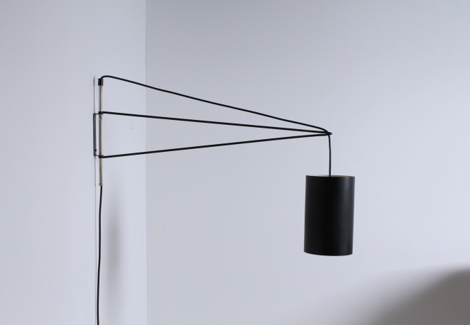 Indoor wall light metal shade fifties cencity indoor wall light minimal modernist modern dutch design mozeypictures Image collections