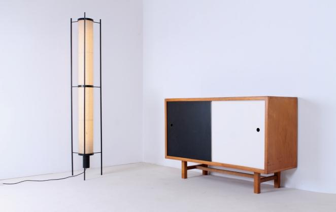 kho-liang-ie-artiforte-st-46-floor-lamp-and-jaap-penraat-sideboard