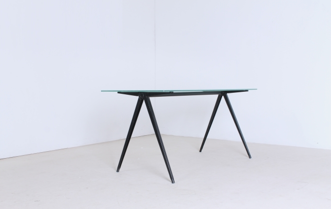 marko-pyramid-compass-base-low-small-coffee-table-friso-kramer-prouve-wim-rietveld-style-midcentury-industrial-vintage-9