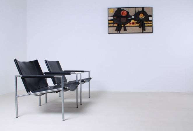 martin-visser-SZ02-lounge-chair-vintage-saddle-leather-black-SZ-02-spectrum-1965-1