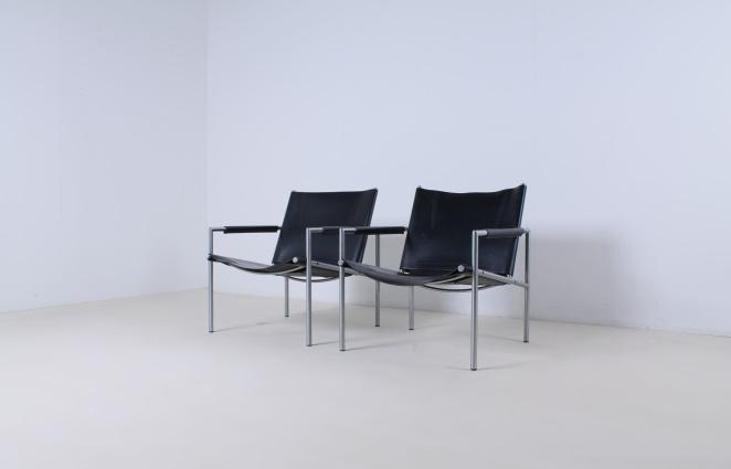 martin-visser-SZ02-lounge-chair-vintage-saddle-leather-black-SZ-02-spectrum-1965-3