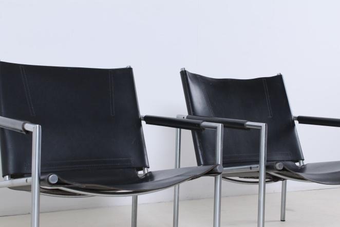 martin-visser-SZ02-lounge-chair-vintage-saddle-leather-black-SZ-02-spectrum-1965-5