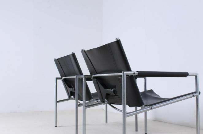 martin-visser-SZ02-lounge-chair-vintage-saddle-leather-black-SZ-02-spectrum-1965-7