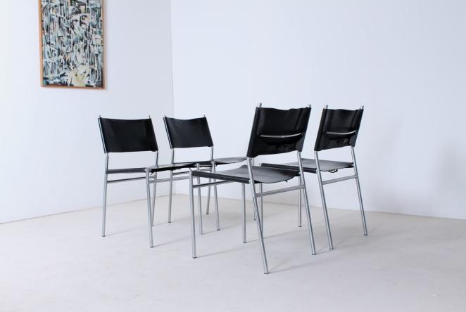 martin-visser-spectrum-dining-dinner-chairs-black-leather-SE-06-se06-vintage-modernism-dutch-design-chrome-steel-minimalism-1