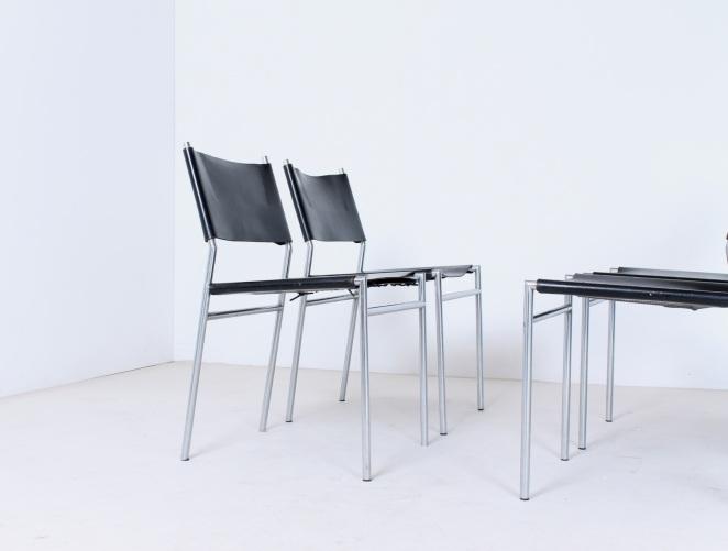martin-visser-spectrum-dining-dinner-chairs-black-leather-SE-06-se06-vintage-modernism-dutch-design-chrome-steel-minimalism-2