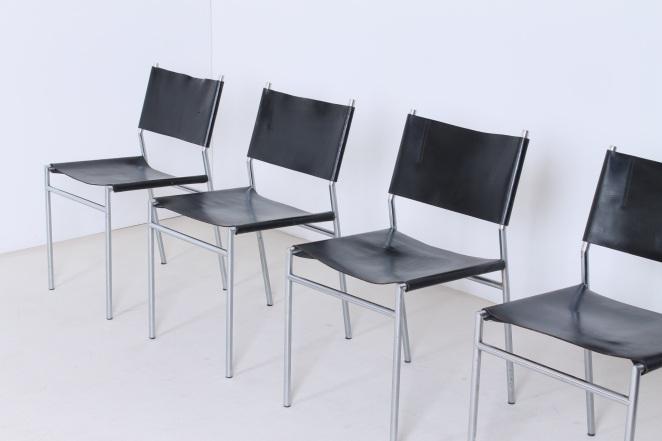 martin-visser-spectrum-dining-dinner-chairs-black-leather-SE-06-se06-vintage-modernism-dutch-design-chrome-steel-minimalism-5