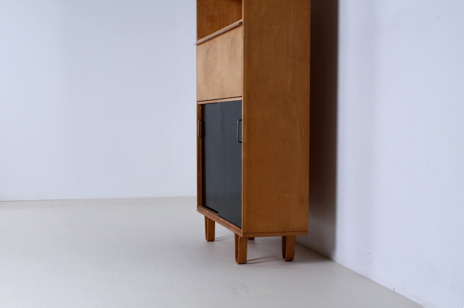 pastoe-birch-berken-luspootjes-braakman-pastoe-vintage-birch-wood-cabinet-high-sliding-colored-doors-combex-series-rare-vintage-2