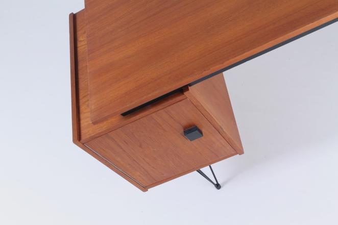 pastoe-box-door-desk-teak-hairpin-wire-legs-braakman-fifties-design-dutch-8