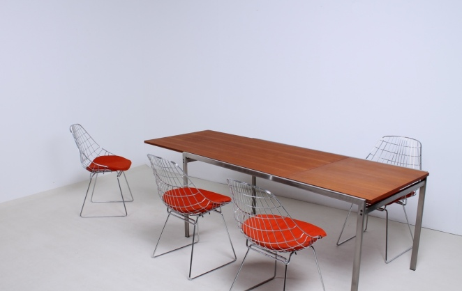 pastoe-dining-table-cees-braakman-extensible-chrome-teak-minimal-design-dutch-2