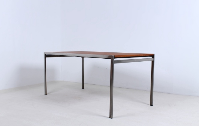 pastoe-dining-table-cees-braakman-extensible-chrome-teak-minimal-design-dutch-6
