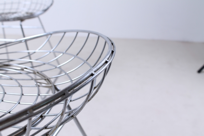 pastoe-metal-wiring-steel-iron-stools-seating-vintage-design-cees-braakman-chrome-plated-chromed-edition-set-3