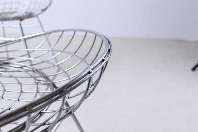 pastoe-metal-wiring-steel-iron-stools-seating-vintage-design-cees-braakman-chrome-plated-chromed-edition-set-3