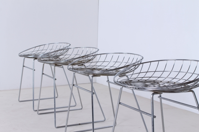 pastoe-metal-wiring-steel-iron-stools-seating-vintage-design-cees-braakman-chrome-plated-chromed-edition-set-7