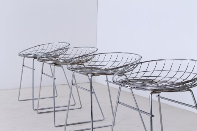 pastoe-metal-wiring-steel-iron-stools-seating-vintage-design-cees-braakman-chrome-plated-chromed-edition-set-7