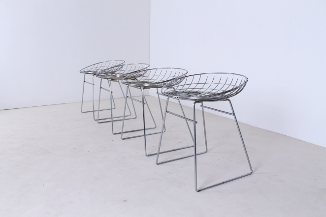 pastoe-metal-wiring-steel-iron-stools-seating-vintage-design-cees-braakman-chrome-plated-chromed-edition-set-8