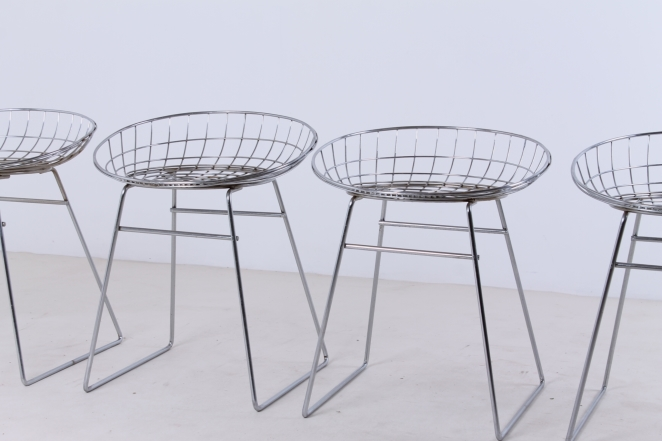 pastoe-metal-wiring-steel-iron-stools-seating-vintage-design-cees-braakman-chrome-plated-chromed-edition-set-9