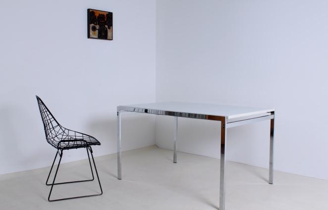 pastoe-white-table-chrome-dining-desk-braakman-1