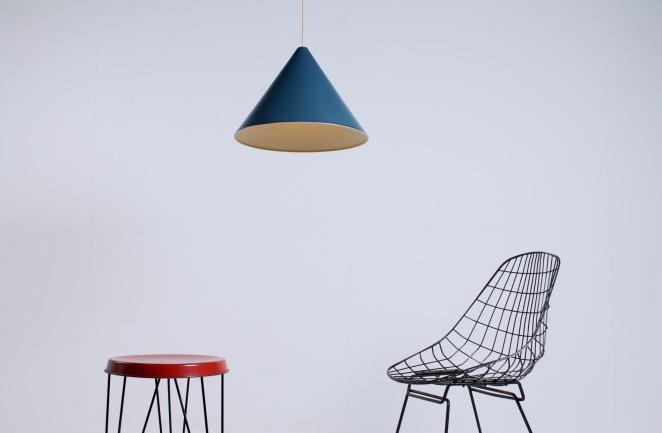 petrol-blue-fifities-cone-shaped-pendant-hanging-light-vintage-anvia-hala-hagoort-vintage-minimal-1