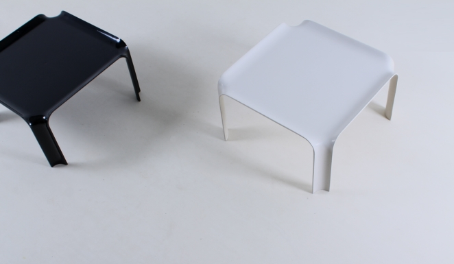 pierre-paulin-artifort-877-coffee-table-fiberglass-F300-set-plastic-black-off-white-seventies-rare-7