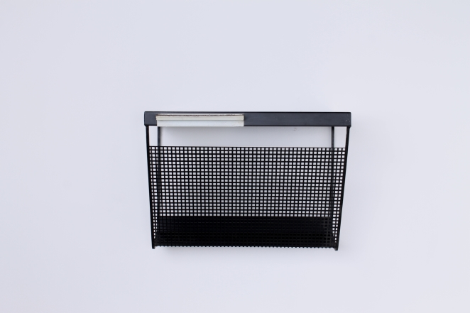 pilastro-wall-console-phone-black-white-perforated-shelf-metal-tjerk-reijenga-rare-parts-industrial-furniture-dutch-design-tomado-mategot-midcentury-shelves-colors-1